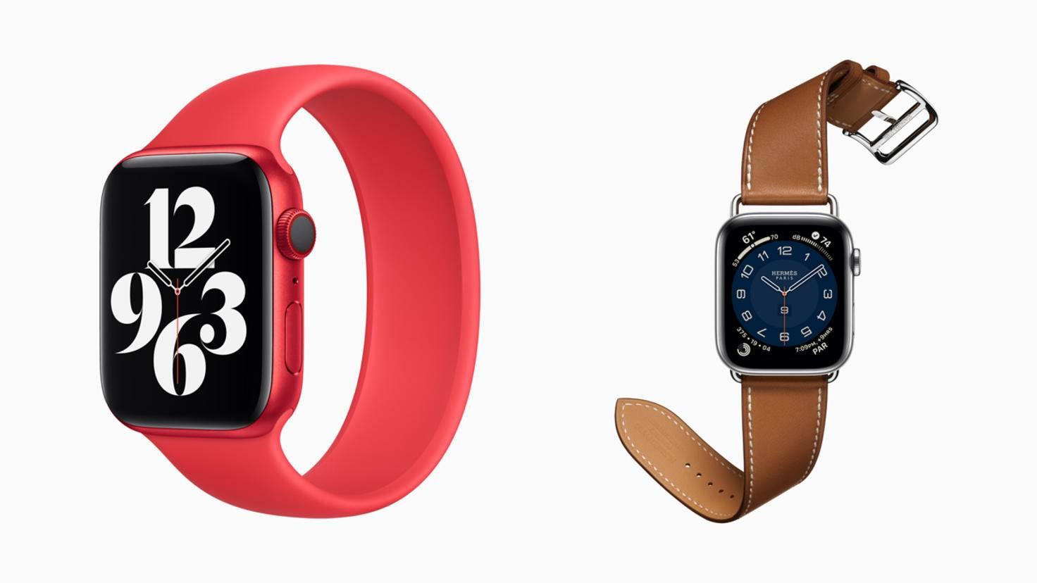 ... avec l'Apple Watch Series 6, il y a encore plus de couleurs.