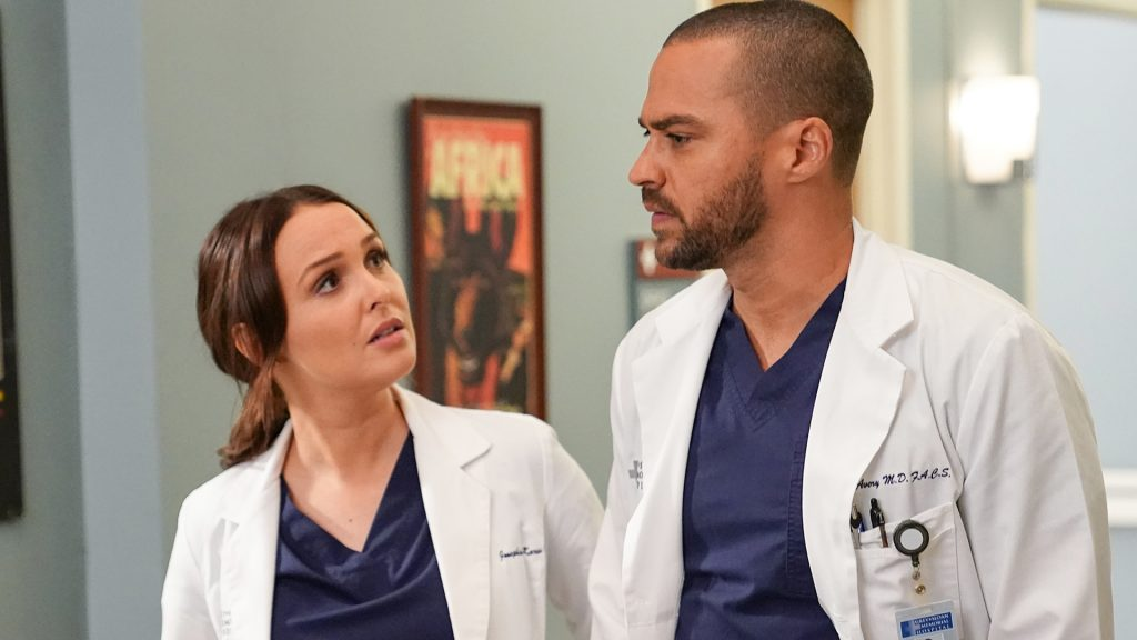 Camilla Luddington comme Jo et Jesse Williams comme Jackson dans Grey's Anatomy