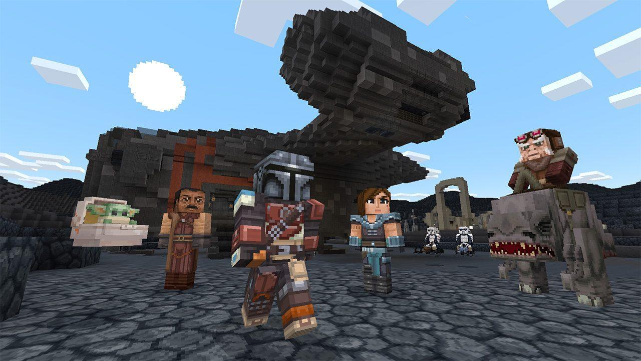 Dans Minecraft, Il Y A Maintenant Aussi The Mandalorian Et