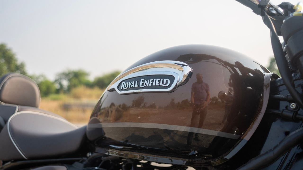 Réservoir de carburant Royal Enfield Meteor 350.  Image: Tushar Burman