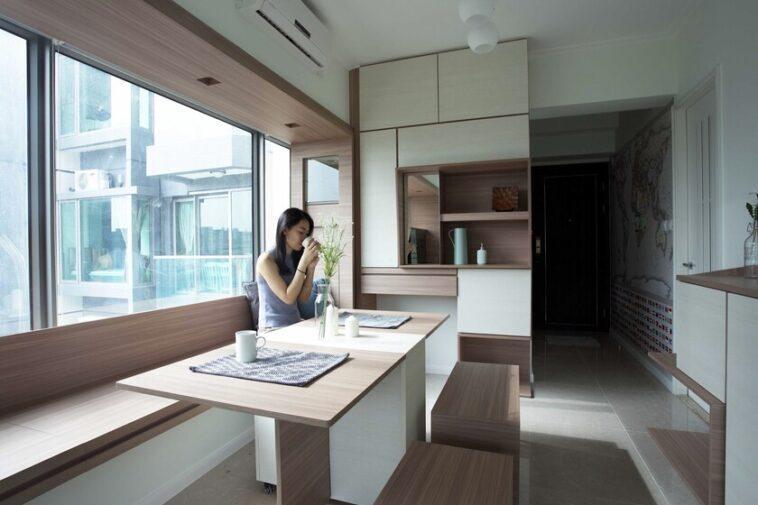 Deux à quatre chambres non meublées: un aperçu des mini-planchers technologiques de Hong Kong avec rangement intelligent