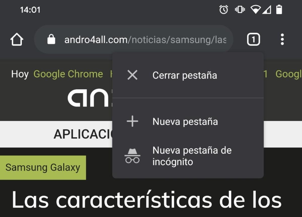 Fermer l'onglet dans Chrome