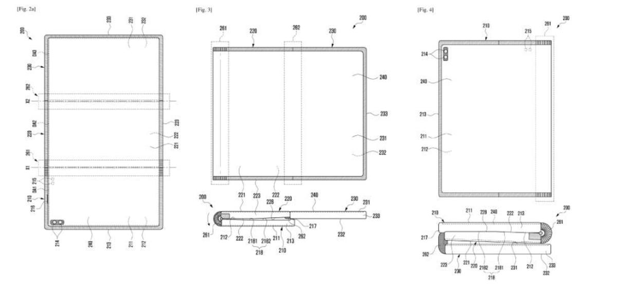Samsung brevet pliable mobile Z