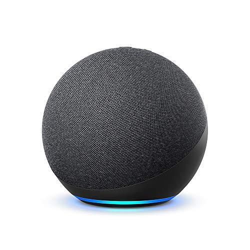 New Echo (4e génération) |  Son de haute qualité, contrôleur de maison intelligente intégré et Alexa |  Anthracite
