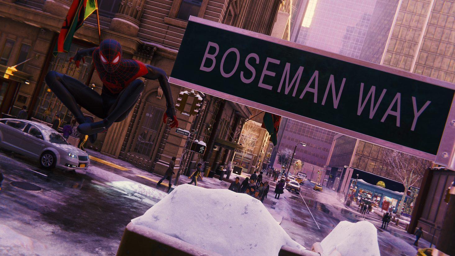 Dans Spiderman: Miles Morales, Il Y A Une Rue Dédiée