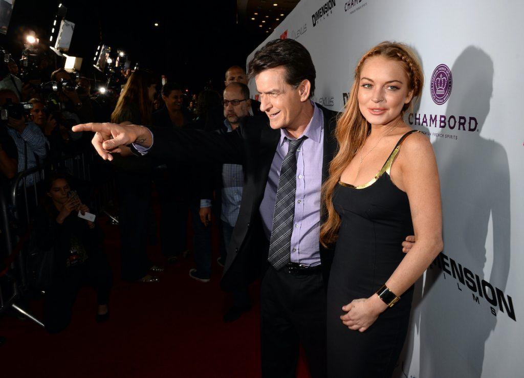 Charlie Sheen et Lindsay Lohan