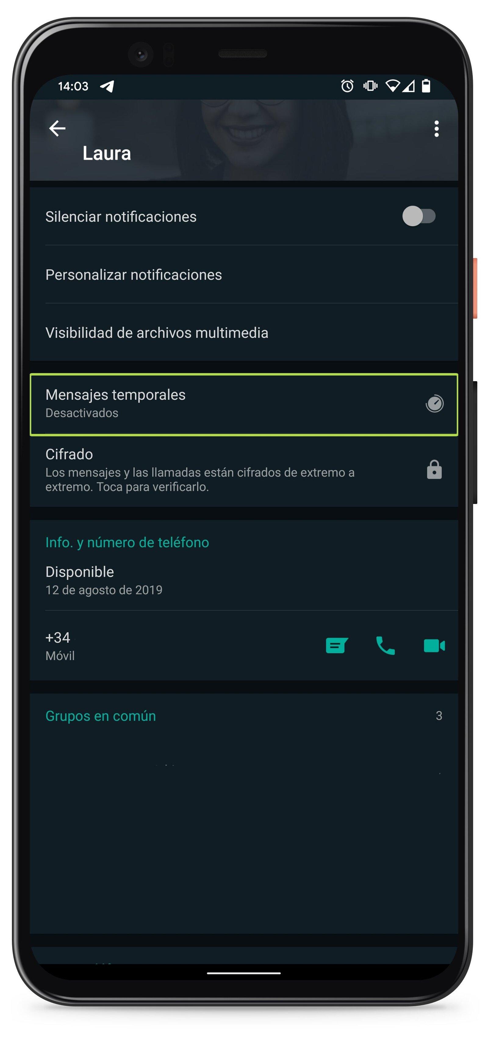 WhatsApp: pour que vous puissiez activer les messages qui disparaissent