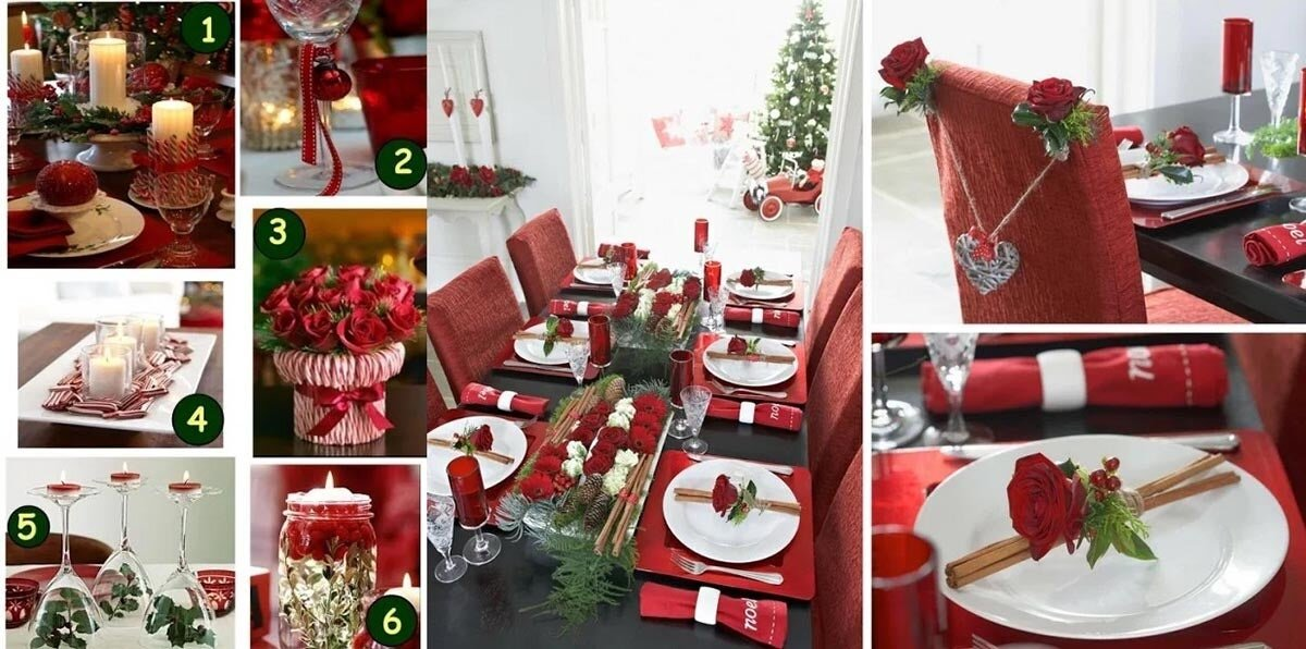 Décorations de table de Noël