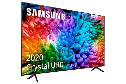 Samsung Crystal UHD 2020 75TU7105 - Téléviseur intelligent de 75 po avec résolution 4K, HDR 10+, écran à cristaux, processeur 4K, PurColor, son intelligent, une fonction de télécommande et assistants vocaux compatibles