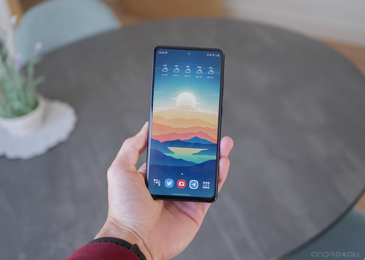 Samsung Galaxy S20 FE, écran allumé