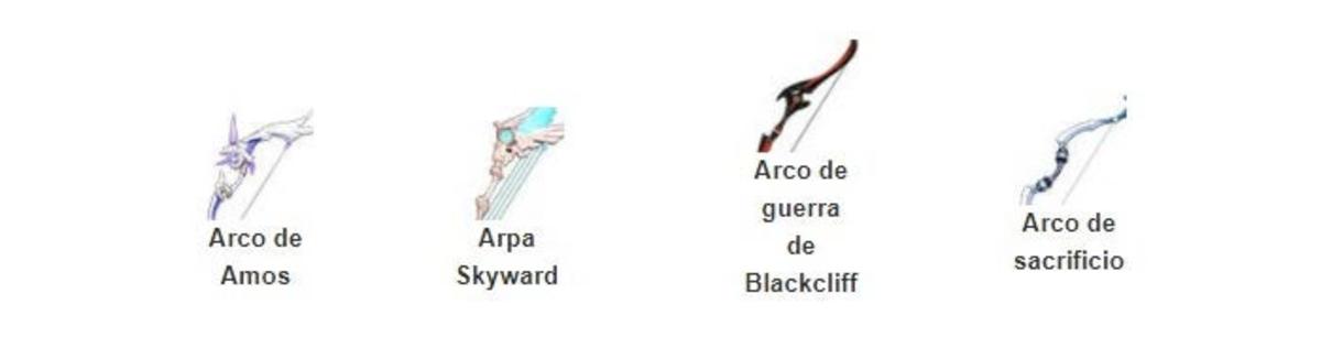 arcs d'impact de genshin