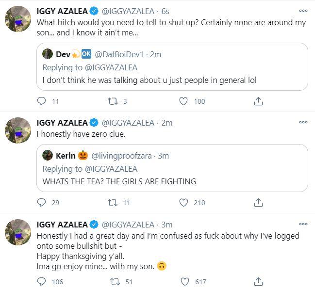 Iggy Azalea, Playboi Carti, Onyx, Twitter