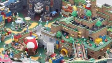 Le parc d'attractions japonais Super Nintendo World est en voie d'achèvement, et des images le prouvent