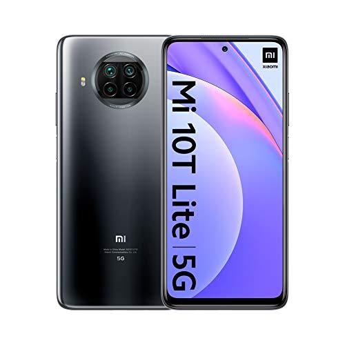 """Xiaomi Mi 10T Lite 5G - Smartphone 6 + 64 Go, 6,67 """"FHD + DotDisplay, Snapdragon 750G, Quad Camera 64 MP avec AI, 4820 mAh, Pearl Grey (Version officielle), avec Alexa Hands-Free"""