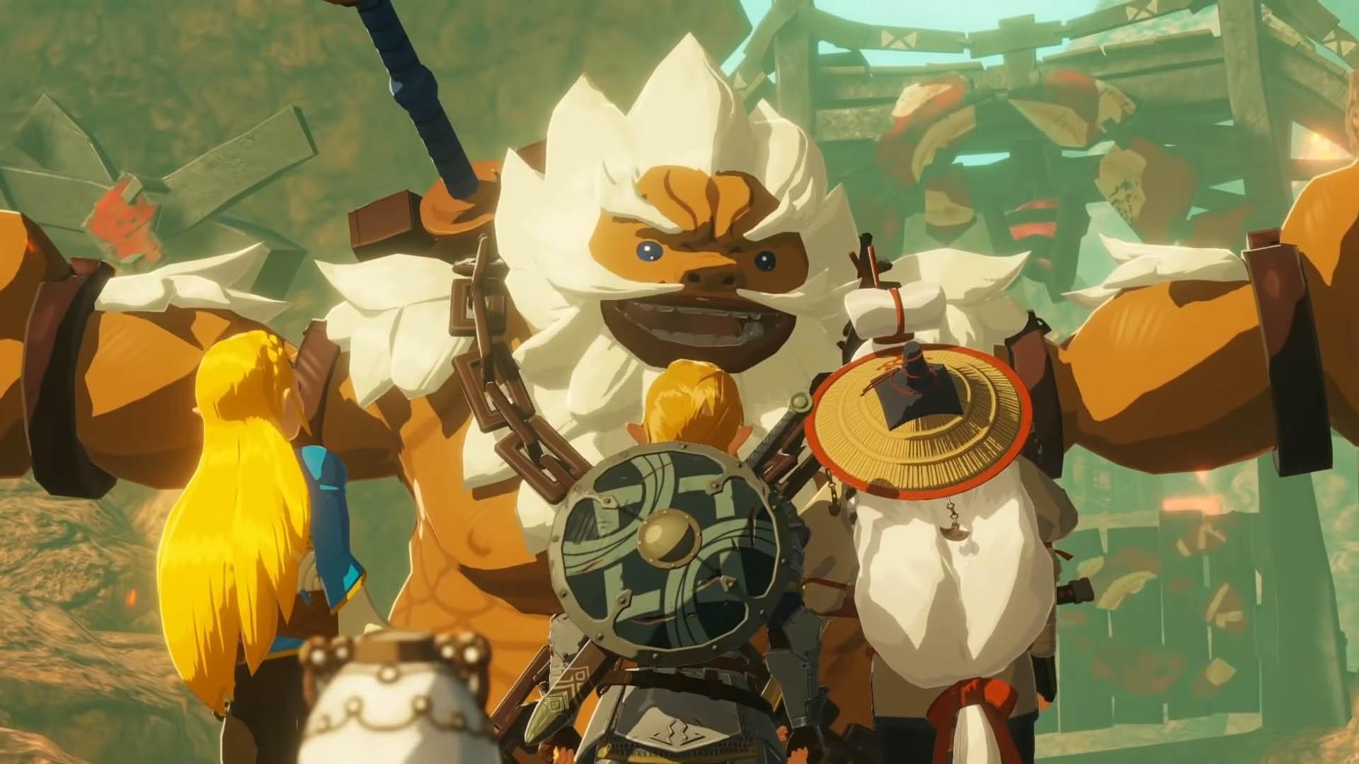 Sur les aventures avec Daruk, Link, Zelda et Impa au temps de la dévastation