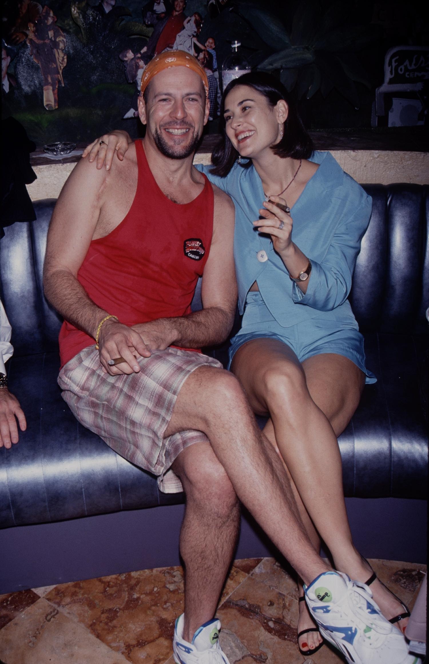 ÉTATS-UNIS - Demi Moore et Bruce Willis, vers 1995.