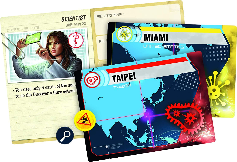 Cartes de joueur de jeu de société Pademic Legacy