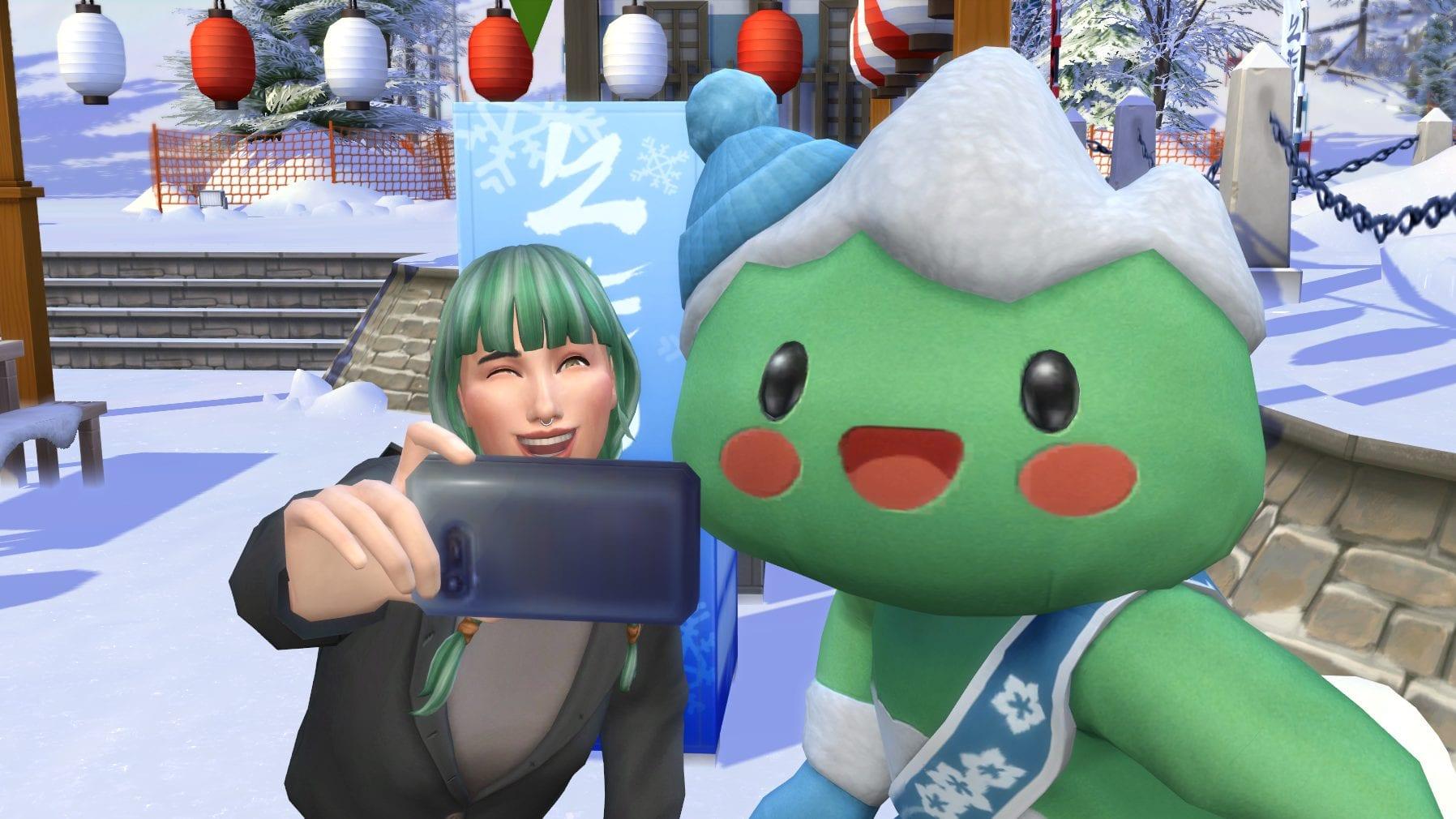 Les Sims 4 En route pour la mascotte du paradis des neiges