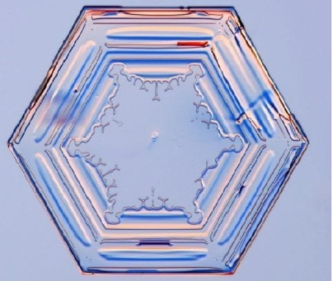 Prisme de cristal de glace simple