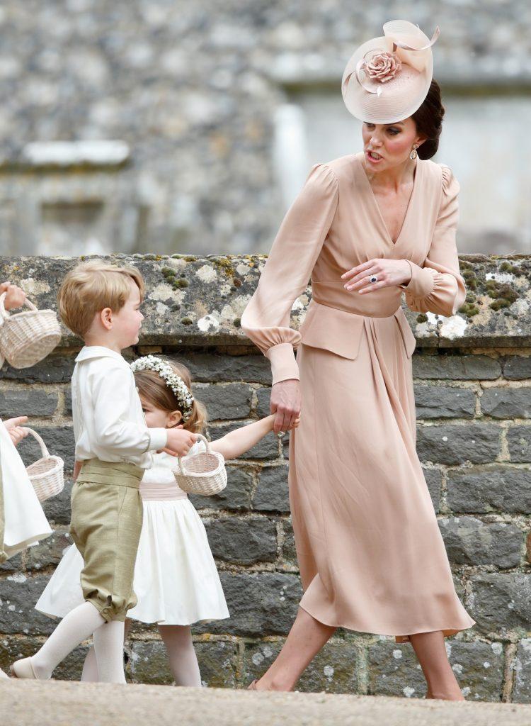 Kate Middleton et le prince George au mariage de Pippa Middleton