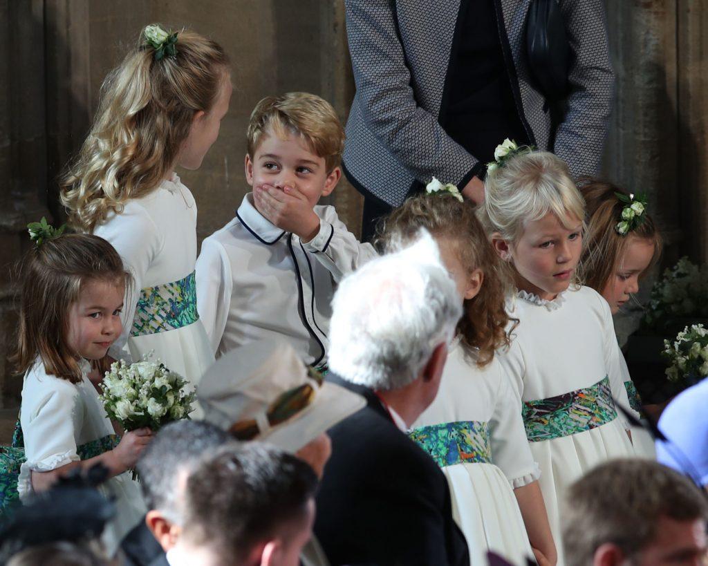 Prince George en tant que pageboy au mariage de la princesse Eugénie et de Jack Brooksbank