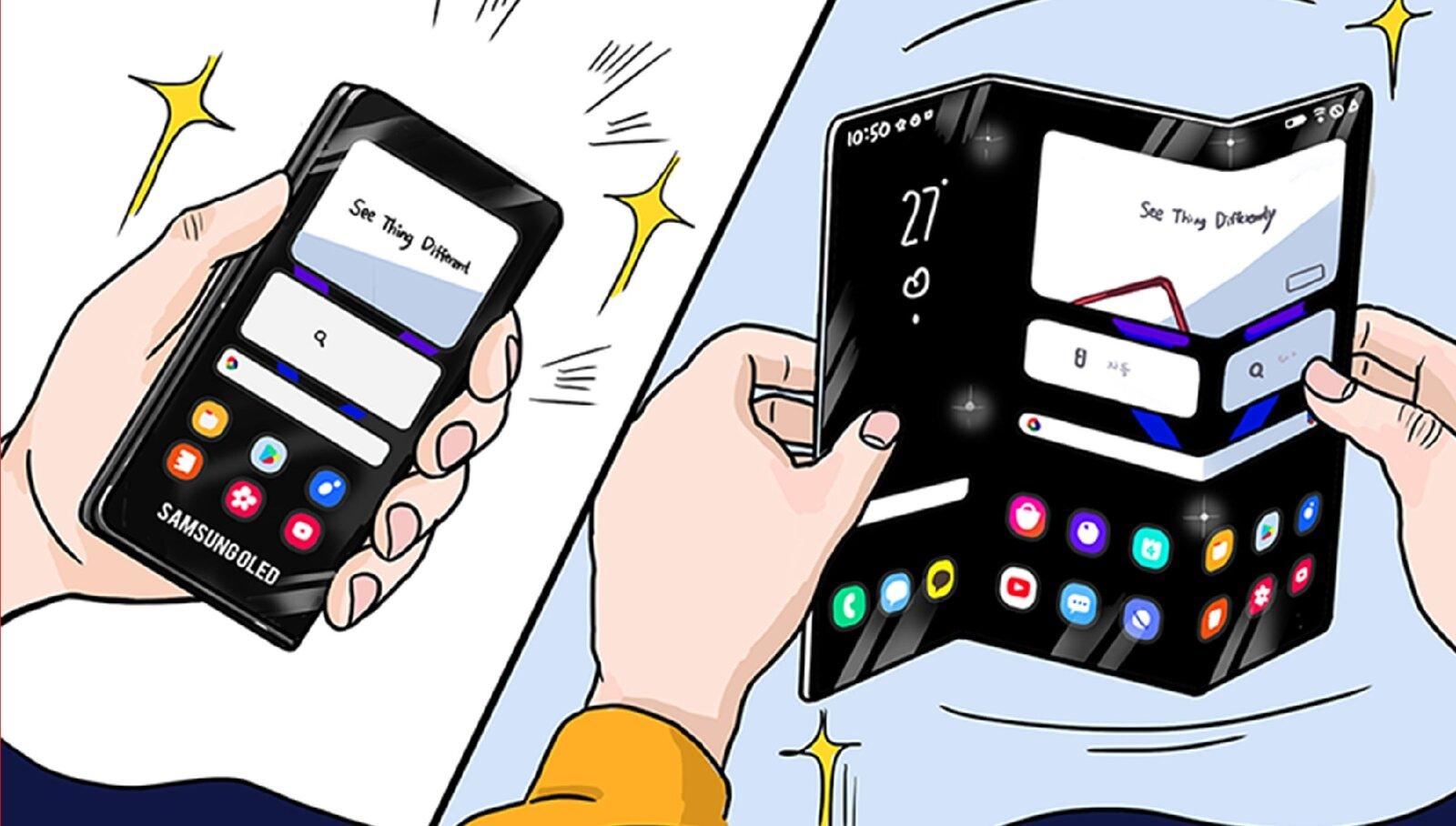 Le nouveau format d'écran pliable de Samsung