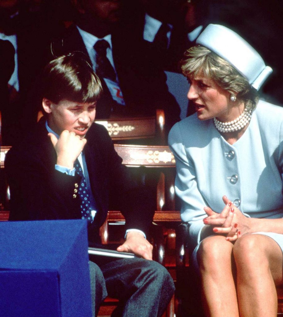 La princesse Diana et le prince William