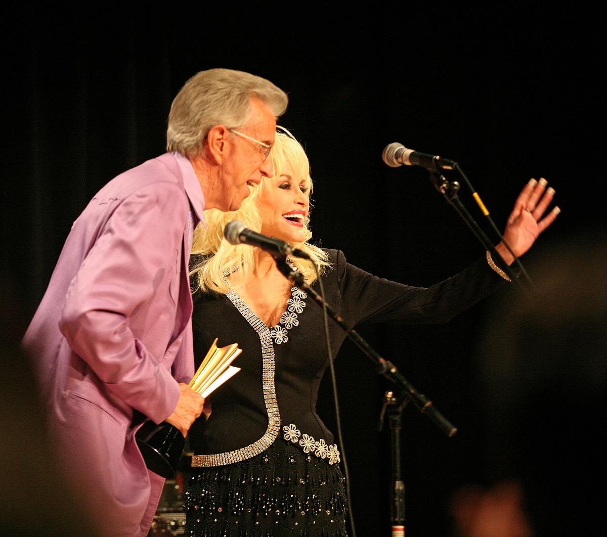 Porter Wagoner et Dolly Parton en 2007