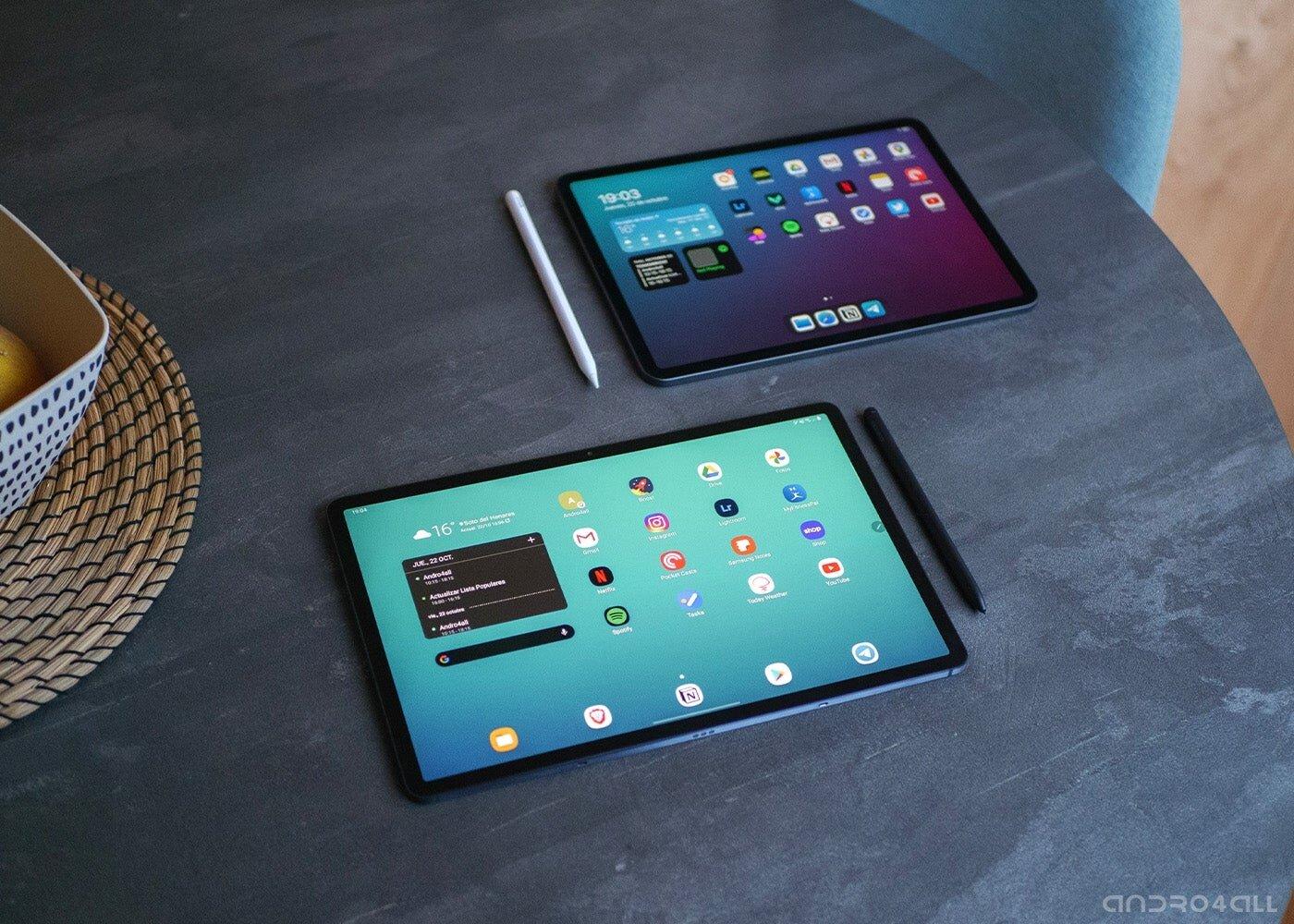 Samsung Galaxy Tab S7 Plus et iPad Pro