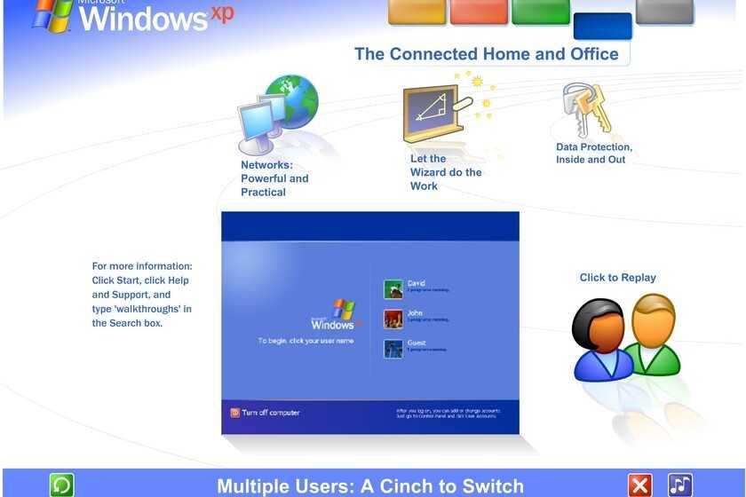 La visite guidée de Windows XP nous rappelle l'époque où les machines vous apprenaient à en tirer parti dès le premier instant