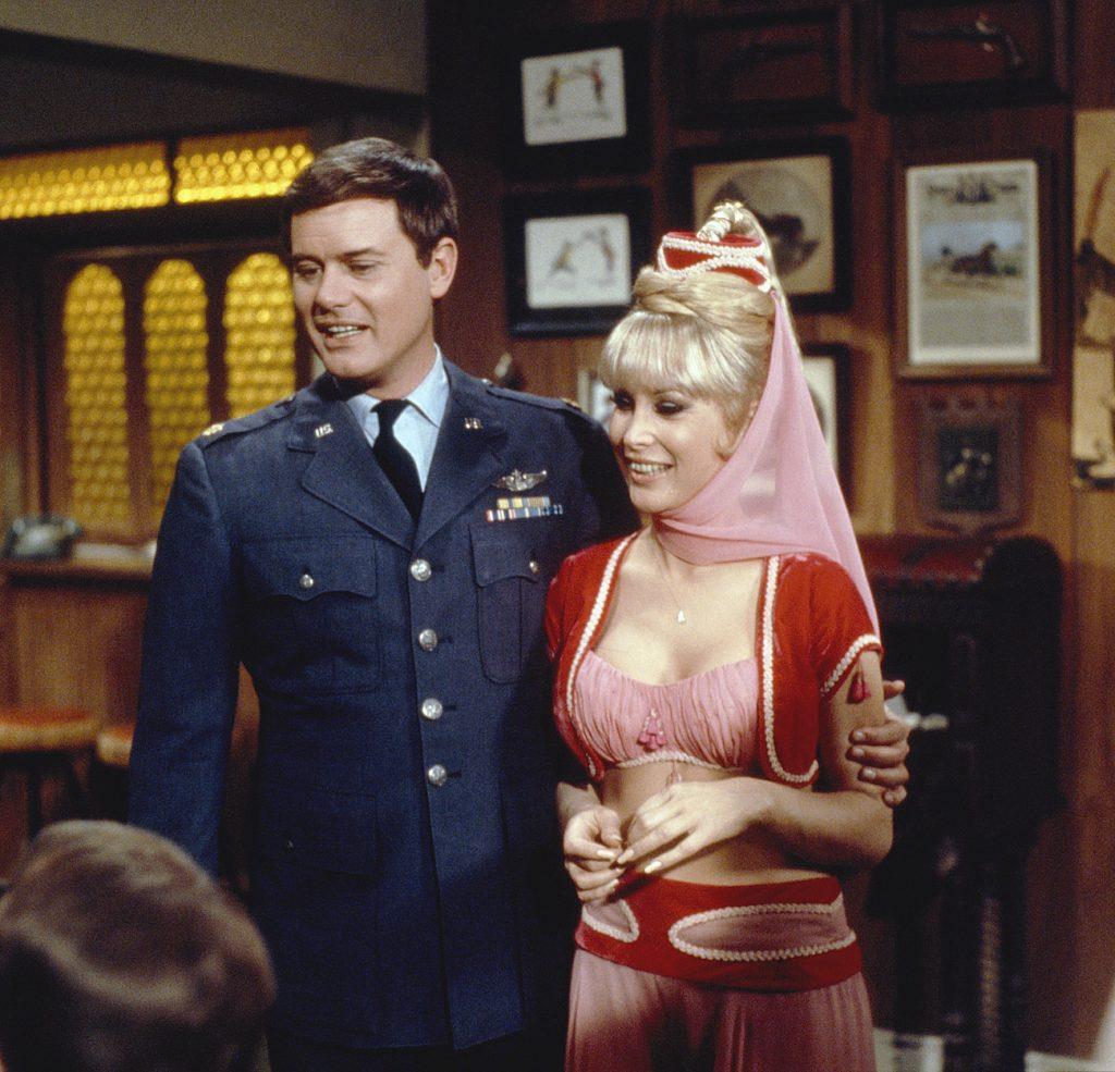Larry Hagman et Barbara Eden de 'Je rêve de Jeannie'