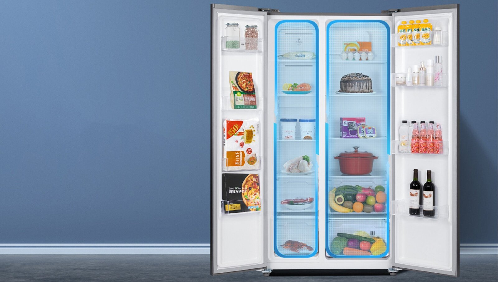Réfrigérateur Xiaomi ouvert