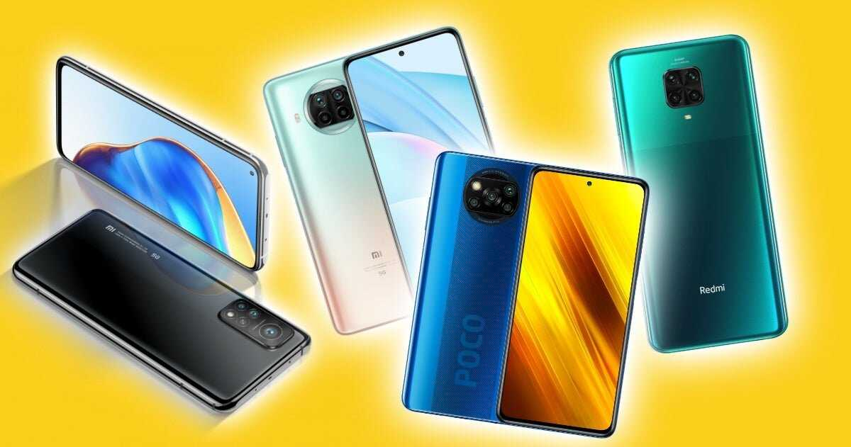 Téléphones Xiaomi proposés