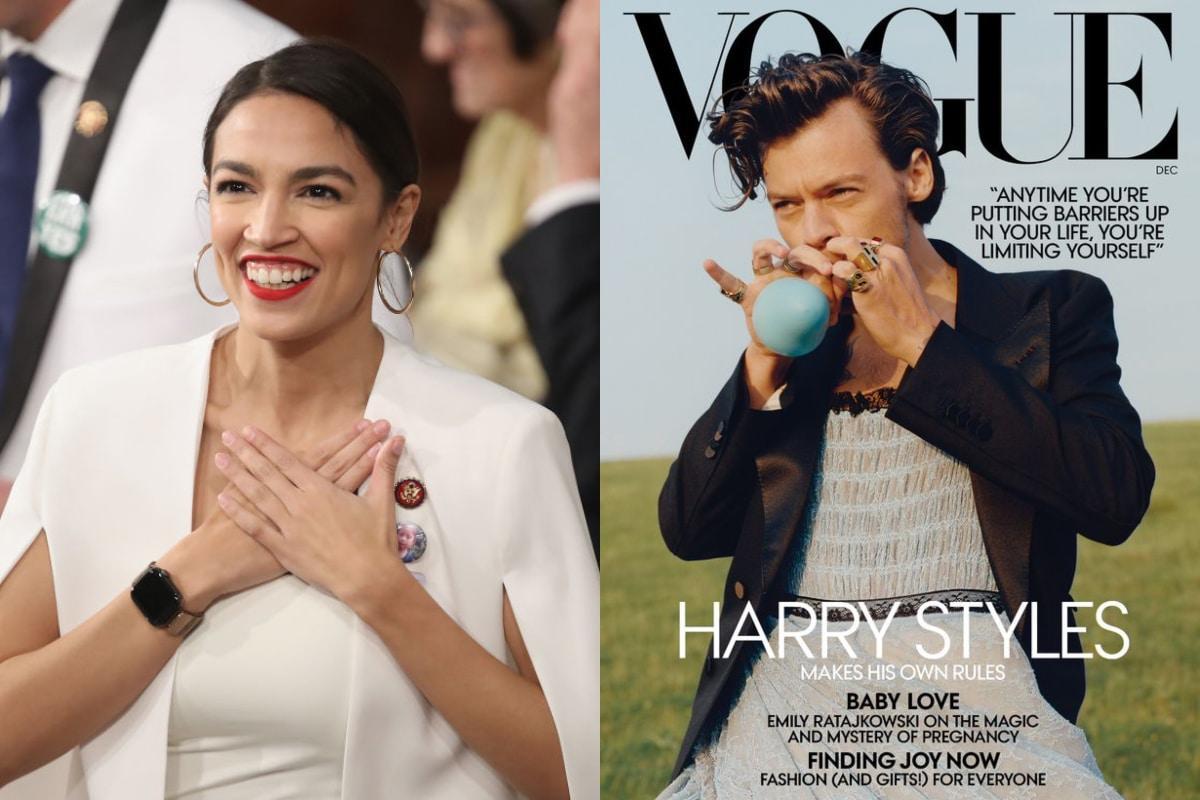 Alexandria Ocasio Cortez Défend La Couverture De Vogue De Harry Styles
