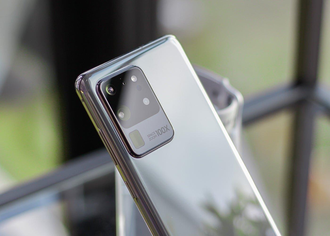 Samsung Galaxy S20 Ultra, caméras arrière en argent
