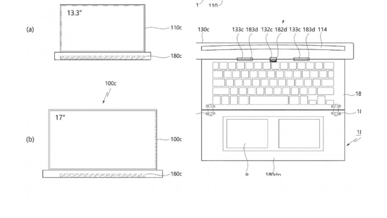 Écran d'ordinateur portable LG enroulable