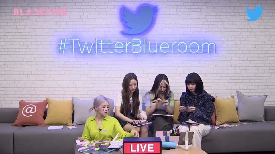 [ENG SUB]  BLACKPINK Twitter Blueroom LIVE Full 32-18 Capture d'écran