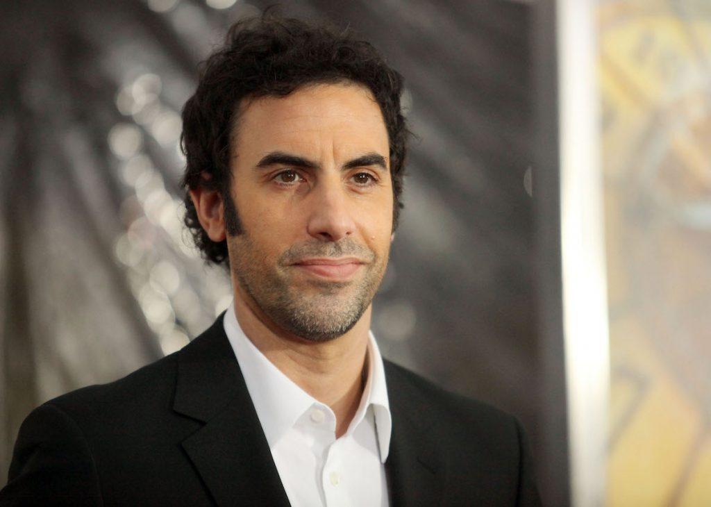 Sacha Baron Cohen at a premiere.