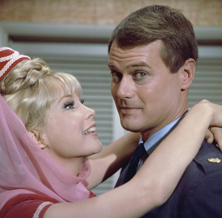 Barbara Eden and Larry Hagman of