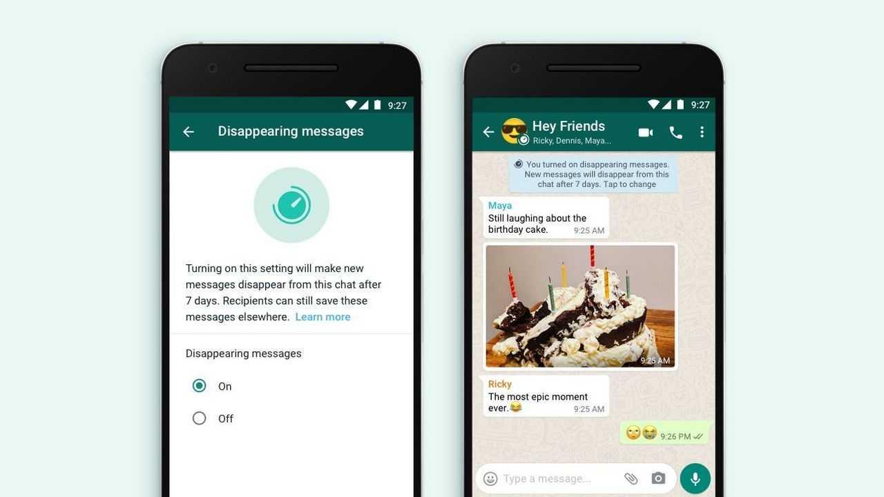 Comment activer la fonction de disparition des messages sur WhatsApp