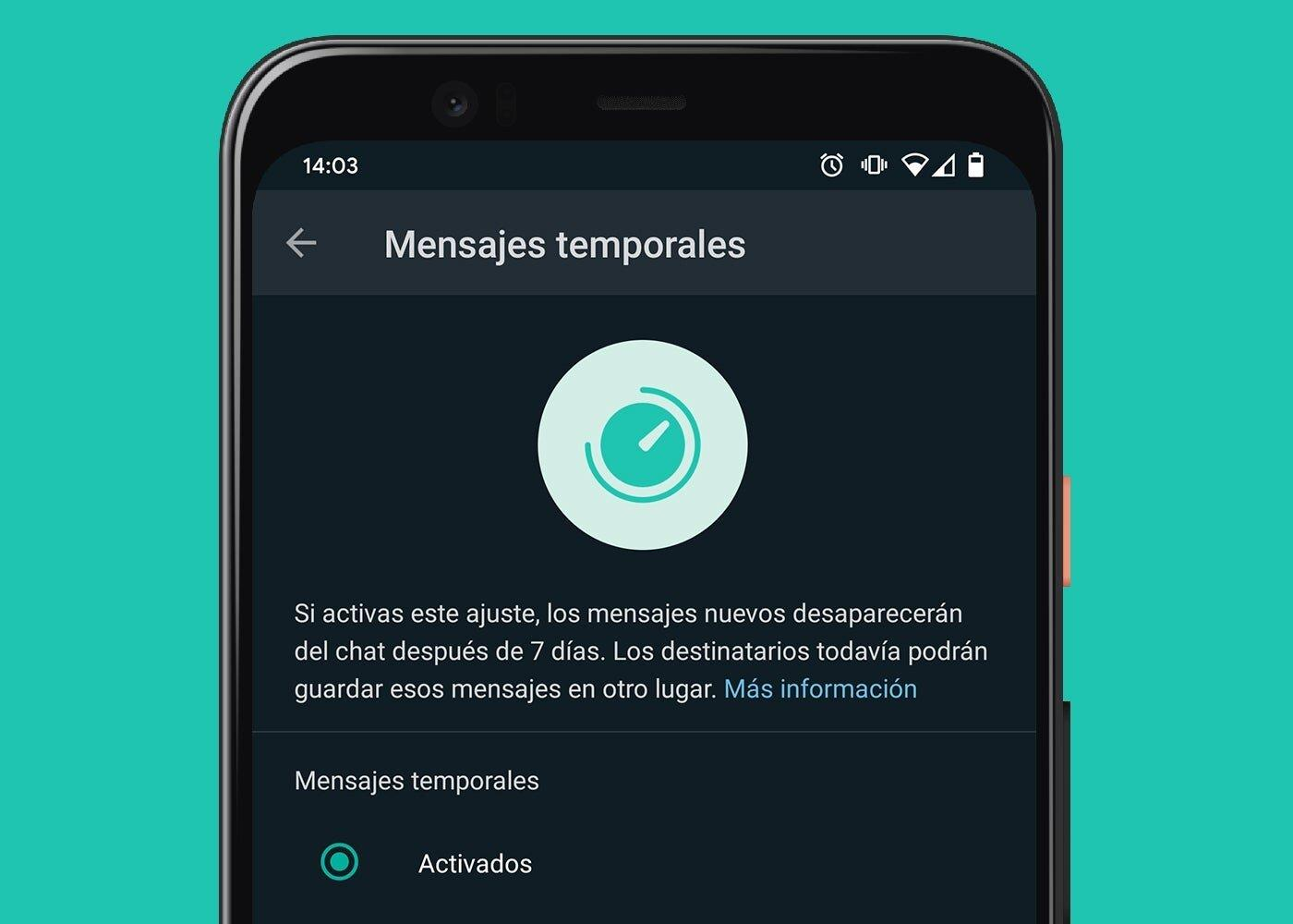 Messages temporaires sur WhatsApp