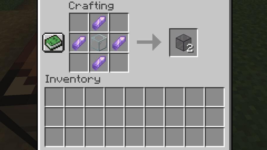 Recette de verre teinté Minecraft