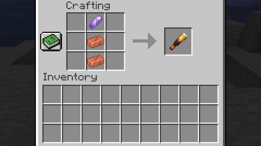 Recette de Spyglass Minecraft