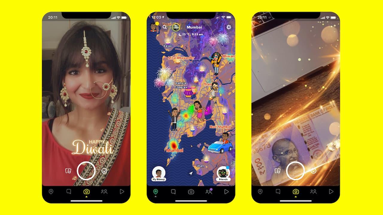 Diwali 2020: Snapchat Lance Plusieurs Objectifs, Autocollants Et Fonctionnalités Festifs