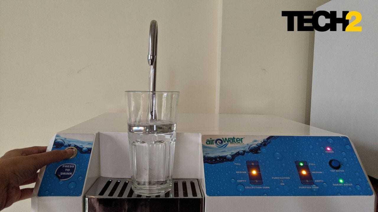 Examen Du Générateur D'eau Airowater Dewpoint: Bat Un Purificateur D'eau,