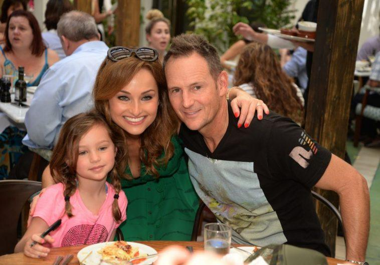 Giada De Laurentiis from the Food Network, Todd Thompson, and their daughter, Jade