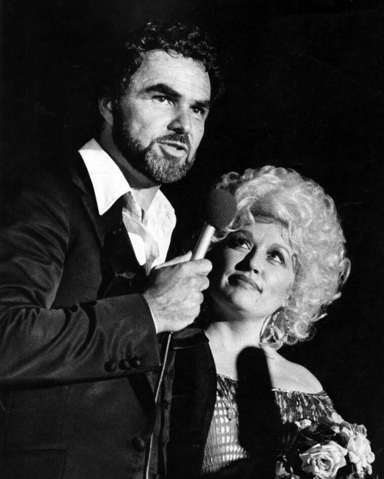 Burt Reynolds and Dolly Parton at Burt Reynolds Theater on July 15, 1982