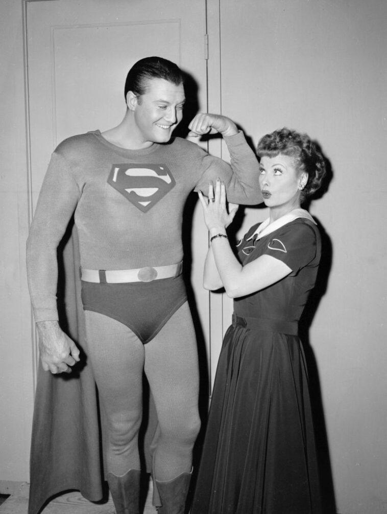 Actor George Reeves and Lucille Ball starred in