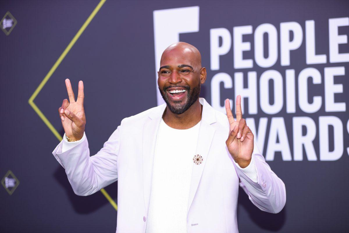 Karamo Brown arrives at the 2020 E! People