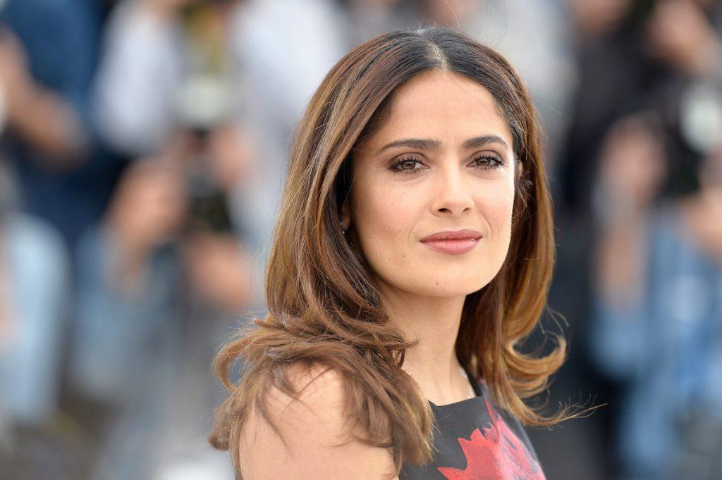 Salma Hayek at a photo call.